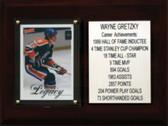 "NHL 6""X8"" Wayne Gretzky Edmonton Oilers Career Stat Plaque"