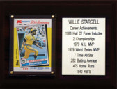 "MLB 6""X8"" Willie Stargell Pittsburgh Pirates Career Stat Plaque"
