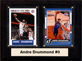 "NBA 6""X8"" Andre Drummond Detriot Pistons Two Card Plaque"