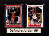 "NBA 6""X8"" DeAndre Jordan Los Angeles Clippers Two Card Plaque"