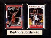 "NBA 6""X8"" DeAndre Jordan Los Angeles Clippers Two Card Plaque"