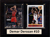 "NBA 6""X8"" Demar Derozan Toronto Raptors Two Card Plaque"