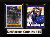 "NBA 6""X8"" DeMarcus Cousins Sacramento Kings Two Card Plaque"