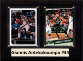 "NBA 6""X8"" Giannis Antekokoumpo Milwaukee Bucks Two Card Plaque"