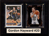 "NBA 6""X8"" Gordon Hayward Utah Jazz Two Card Plaque"