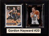 "NBA 6""X8"" Gordon Hayward Utah Jazz Two Card Plaque"