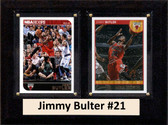 "NBA 6""X8"" Jimmy Bulter Chicago Bulls Two Card Plaque"