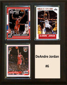"NBA 8""x10"" DeAndre Jordan Los Angeles Clippers Three Card Plaque"