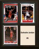 """NBA 8""""x10"""" DeAndre Jordan Los Angeles Clippers Three Card Plaque"""