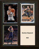 "NBA 8""x10"" Gordon Hayward Utah Jazz Three Card Plaque"