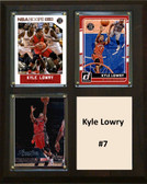 "NBA 8""x10"" Kyle Lowry Toronto Raptors Three Card Plaque"