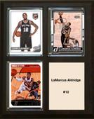 """NBA 8""""x10"""" LaMarcus Aldridge San Antonio Spurs Three Card Plaque"""