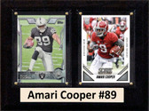 "NFL 6""X8"" Amari Cooper Oakland Raiders Two Card Plaque"