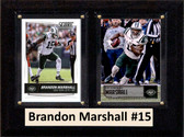 "NFL 6""X8"" Brandon Marshall New York Jets Two Card Plaque"