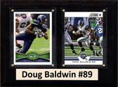 "NFL 6""X8"" Doug Baldwin Seattle Seahawks Two Card Plaque"
