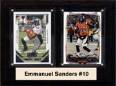 """NFL 6""""X8"""" Emmanuel Sanders Denver Broncos Two Card Plaque"""