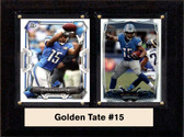 "NFL 6""X8"" Golden Tate Detroit Lions Two Card Plaque"