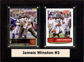"NFL 6""X8"" Jameis Winston Tampa Bay Buccaneers Two Card Plaque"