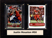 "NFL 6""X8"" Justin Houston Kansas City Chiefs Two Card Plaque"