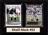 "NFL 6""X8"" Khalil Mack Oakland Raiders Two Card Plaque"