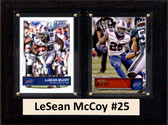 "NFL 6""X8"" LeSean McCoy Buffalo Bills Two Card Plaque"