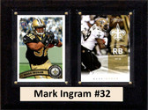 "NFL 6""X8"" Mark Ingram New Orleans Saints Two Card Plaque"