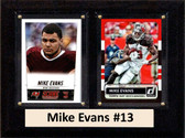 "NFL 6""X8"" Mike Evans Tampa Bay Buccaneers Two Card Plaque"