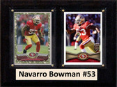 "NFL 6""X8"" Navarro Bowman San Francisco 49ers Two Card Plaque"