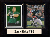 "NFL 6""X8"" Zack Ertz Philadelphia Eagles Two Card Plaque"