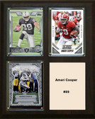 "NFL 8""x10"" Amari Cooper Oakland Raiders Three Card Plaque"