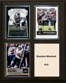 "NFL 8""x10"" Brandon Marshall New York Jets Three Card Plaque"