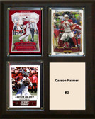 "NFL 8""x10"" Carson Palmer Arizona Cardinals Three Card Plaque"