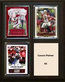 "NFL 8""x10"" Carson Palmer Arizona Cardinals Three Card Plaque"