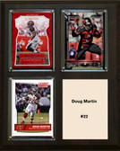"NFL 8""x10"" Doug Martin Tampa Bay Buccaneers Three Card Plaque"
