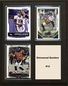 "NFL 8""x10"" Emmanuel Sanders Denver Broncos Three Card Plaque"