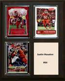 "NFL 8""x10"" Justin Houston Kansas City Chiefs Three Card Plaque"