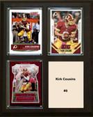 "NFL 8""x10"" Kirk Cousins Washington Redskins Three Card Plaque"