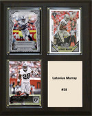 "NFL 8""x10"" Latavius Murray Oakland Raiders Three Card Plaque"