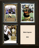 "NFL 8""x10"" Mark Ingram New Orleans Saints Three Card Plaque"