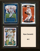 "NFL 8""x10"" Ryan Tannehill Miami Dolphins Three Card Plaque"