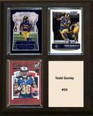 "NFL 8""x10"" Todd Gurley Los Angeles Rams Three Card Plaque"