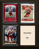 "NFL 8""x10"" Travis Kelce Kansas City Chiefs Three Card Plaque"