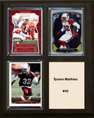 "NFL 8""x10"" Tyrann Mathieu Arizona Cardinals Three Card Plaque"