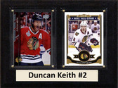 "NHL 6""X8"" Duncan Keith Chicago Blackhawks Two Card Plaque"