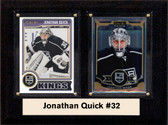 "NHL 6""X8"" Jonathan Quick Los Angeles Kings Two Card Plaque"