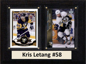"NHL 6""X8"" Kris Letang Pittsburgh Penguins Two Card Plaque"