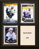 "NHL 8""x10"" Daniel Sedin Vancouver Canucks Three Card Plaque"