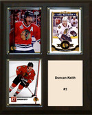 "NHL 8""x10"" Duncan Keith Chicago Blackhawks Three Card Plaque"