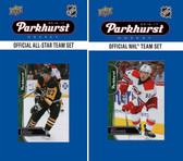NHL Carolina Hurricanes 2016 Parkhurst Team Set and All-Star Set