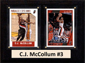 "NBA 6""X8"" C.J. McCollum Portland Trail Blazers Two Card Plaque"